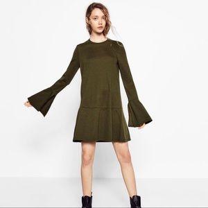 Zara Green Belle Long Sleeve Dress